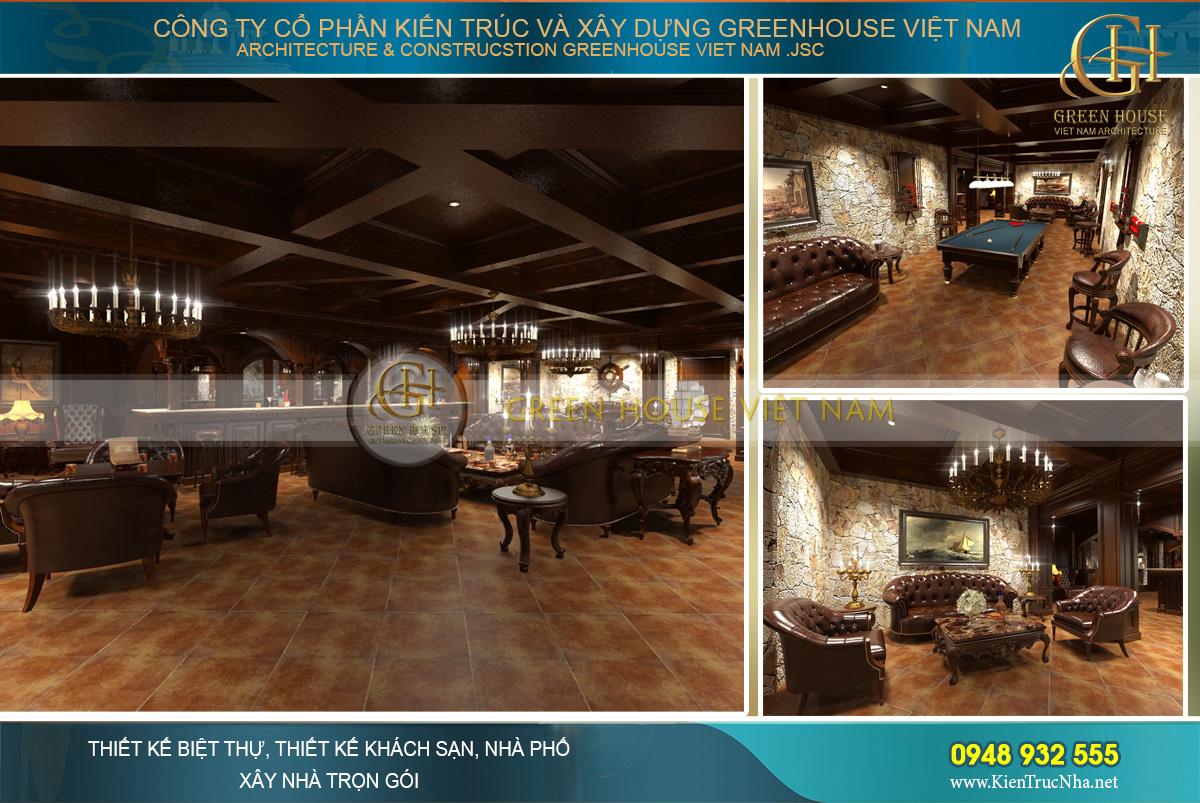 thiết kế nội thất biệt thự cổ điển tại Phan Thiết
