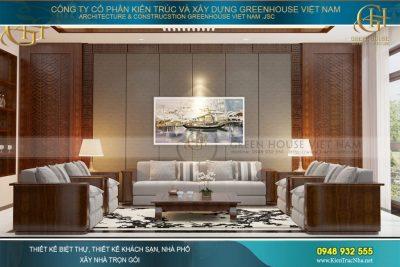 thiết kế nội thất biệt thự phố hiện đại 3 tầng Bắc Giang