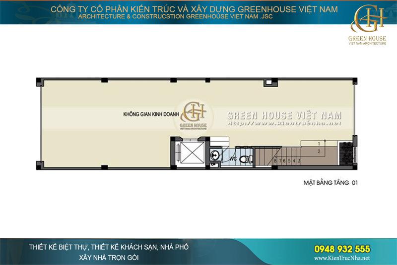 thiết kế nhà ống hiện đại kết hợp kinh doanh tại hà nội
