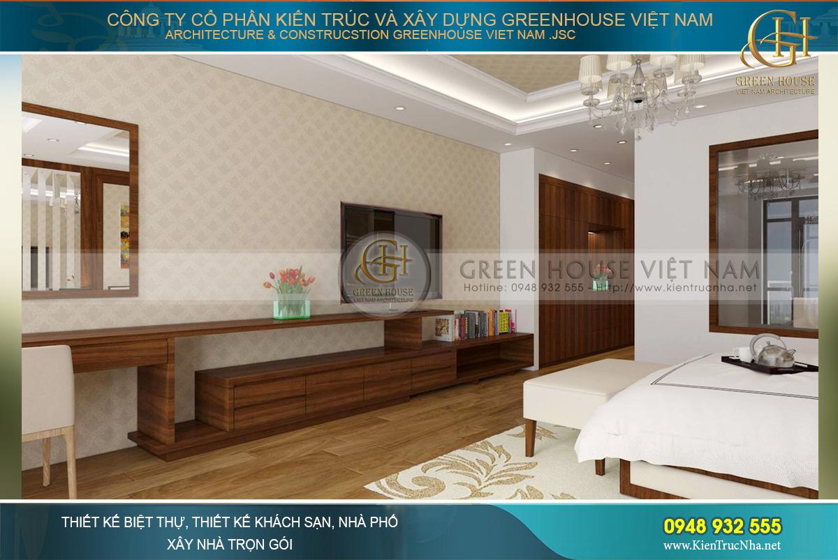 Các không gian phòng ngủ của biệt thự 4 tầng hiện đại đều khá rộng bởi anh Hưng rất quan trọng không gian nghỉ ngơi, sinh hoạt cá nhân của mỗi thành viên trong gia đình,