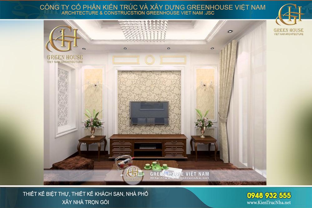 thiết kế nội thất nhà phố tân cổ điển 4 tầng tại hà nội