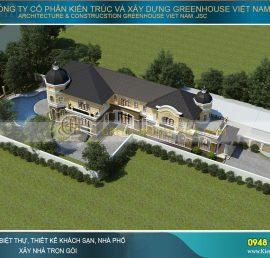 thiết kế biệt thự sân vườn kiểu Pháp tại Đà nẵng