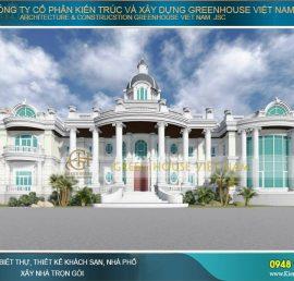 thiết kế dinh thự tân cổ điển đẹp