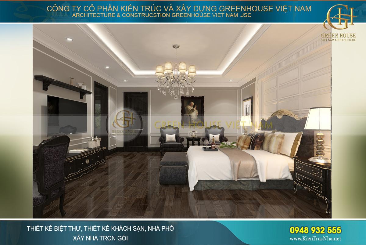 thiết kế và thi công biệt thự tân cổ điển tại Bắc Giang