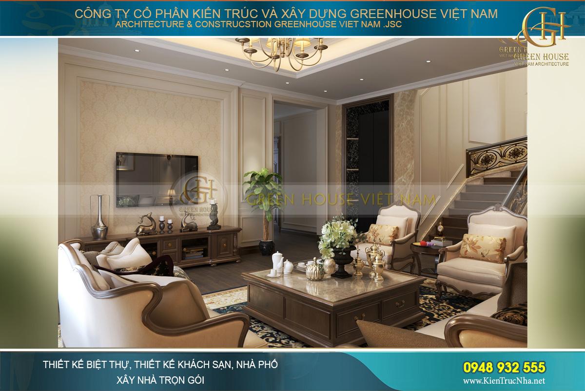 thiết kế biệt thự tân cổ điển 3 tầng tại Quảng Ninh
