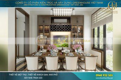 thiết kế phòng ăn đẹp hiện đại