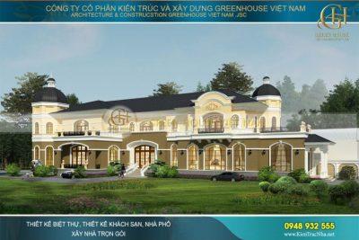 thiết kế dinh thự tân cổ điển tại bạc liêu