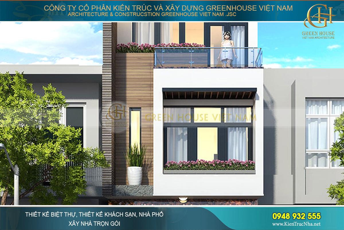 thiết kế nhà phố hiện đại 3 tầng bắc ninh