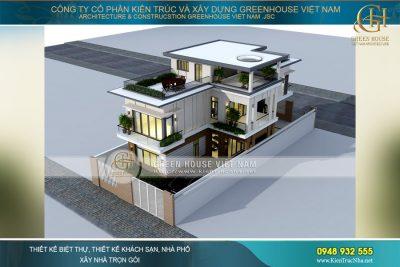 thiết kế biệt thự mái bằng bình dương