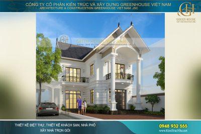 thiết kế nhà phố tân cổ điển 2 tầng hà nội