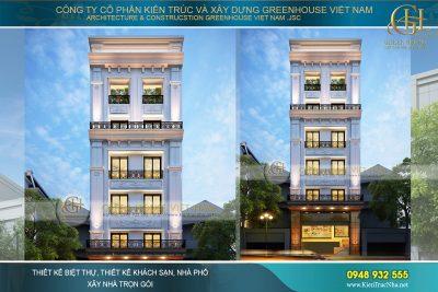 thiết kế nhà phố tân cổ điển tại Đồng Nai