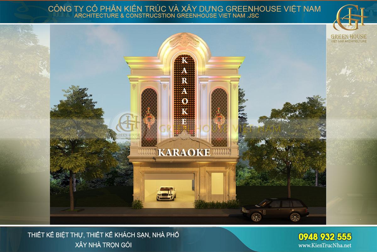 thiết kế quán karaoke 3 tầng tại lai châu