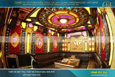 thiết kế phòng karaoke tân cổ điển