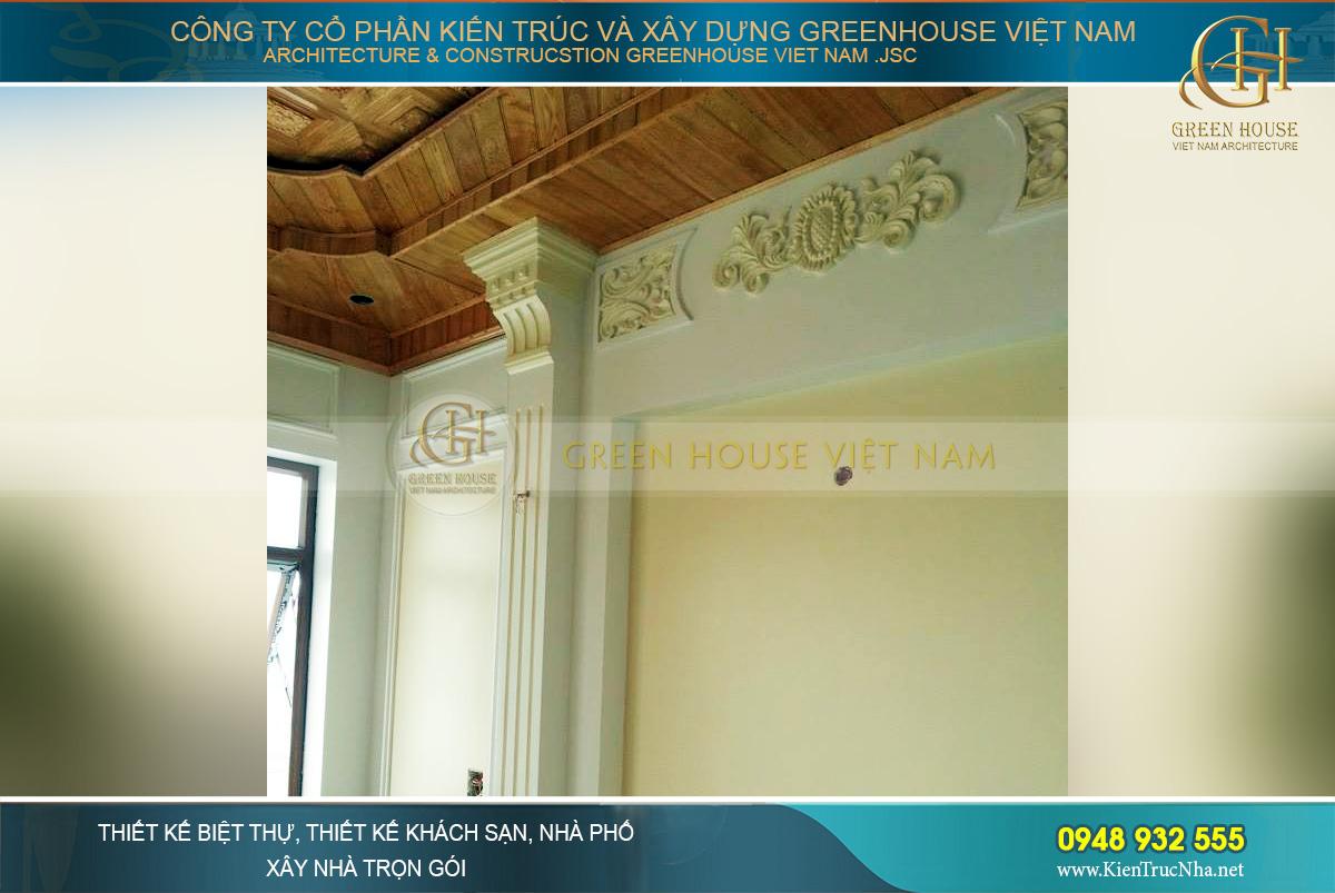 thi công trọn gói biệt thự tân cổ điển 4 tầng
