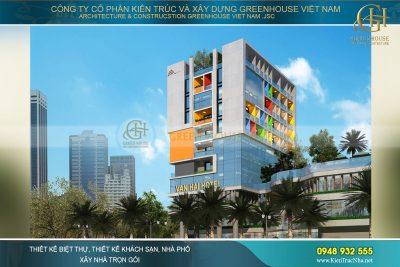 thiết kế khách sạn hiện đại 10 tầng