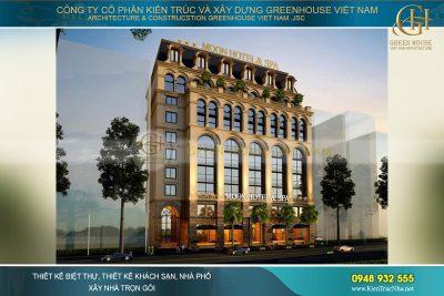 thiết kế khách sạn tân cổ điển 10 tầng