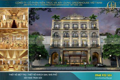 thiết kế khách sạn tân cổ điển 5 tầng tại nam định