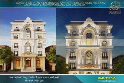 thiết kế khách sạn tân cổ điển 5 tầng