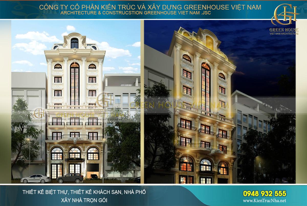 mẫu thiết kế khách sạn 3 sao đẹp