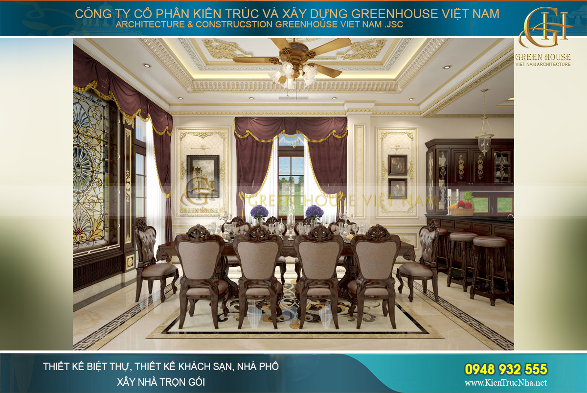 thiết kế biệt thự tân cổ điển 3 tầngthiết kế biệt thự tân cổ điển 3 tầng