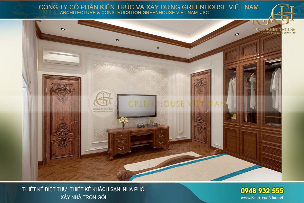 nội thất tân cổ điển cho biệt thự 3 tầng