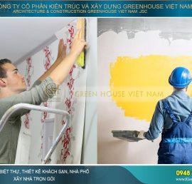 chọn sơn tường hay giấy dán tường