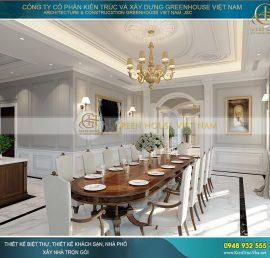 thiết kế nội thất phòng ăn biệt thự đẹp