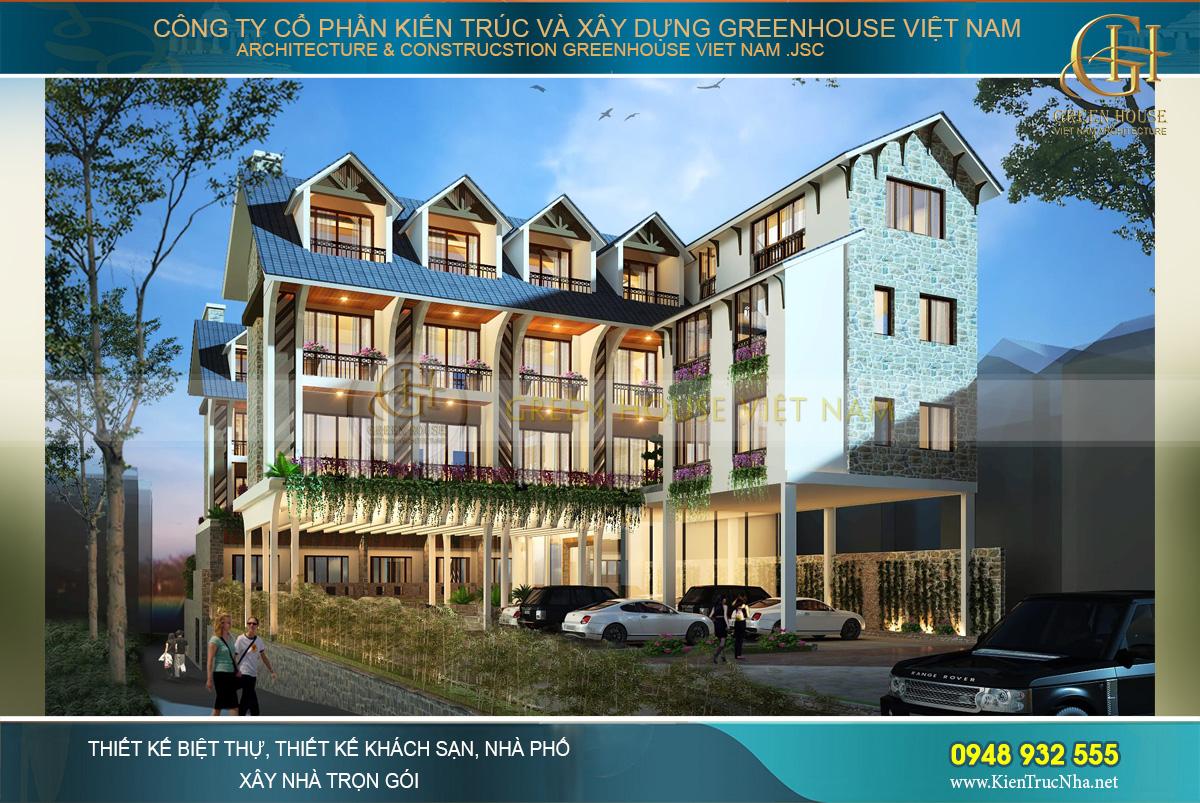 thiết kế khách sạn đẹp tại Đà Lạt