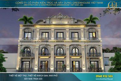 thiết kế khách sạn tân cổ điển 3 sao bình dương