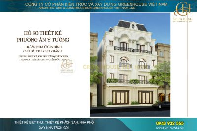 thiết kế nhà phố song lập 4 tầng mặt tiền 12m hải phòng