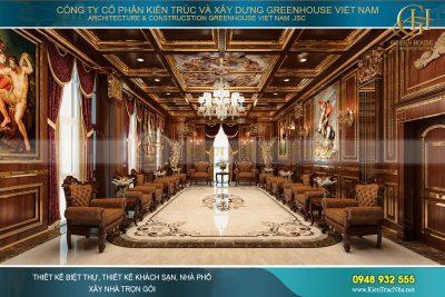 thiết kế nội thất lâu đài cổ điển