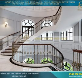 thiết kế cầu thang tân cổ điển đẹp
