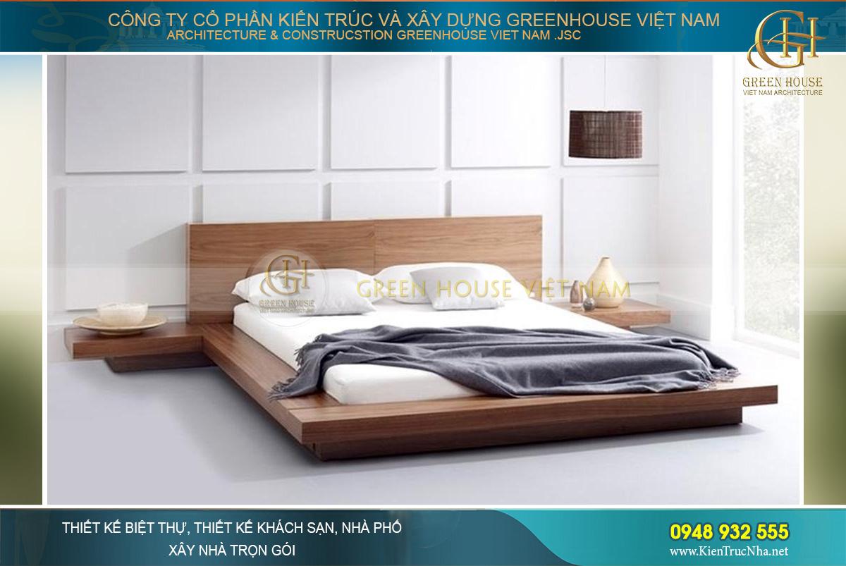 mẫu giường không chân đẹp 2020