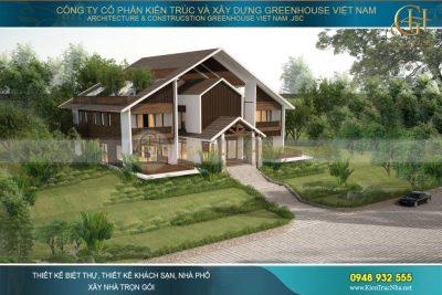 thiết kế biệt thự vườn 1000m2
