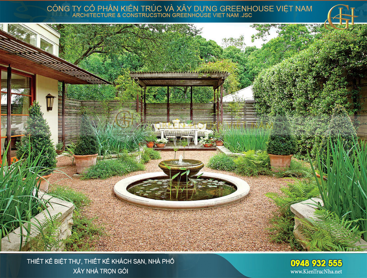 dịch vụ thiết kế sân vườn