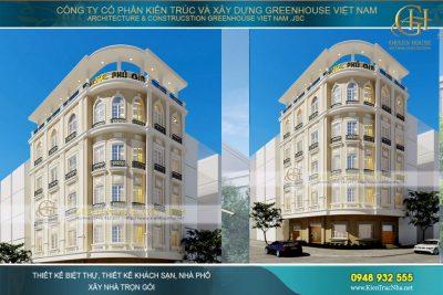 thiết kế khách sạn 3 sao hải phòng