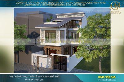 thiết kế nhà phố hiện đại 200m2