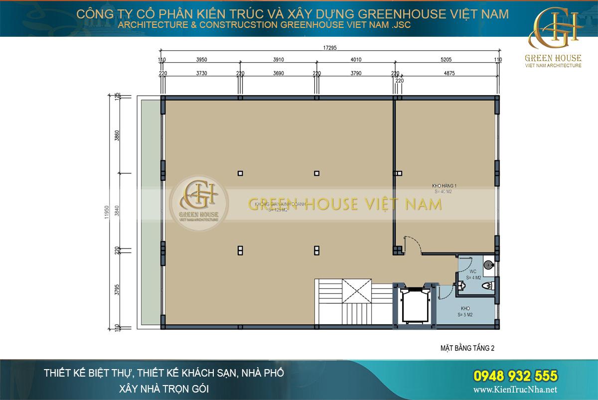 thiết kế nhà ở kết hợp kinh doanh 4 tầng