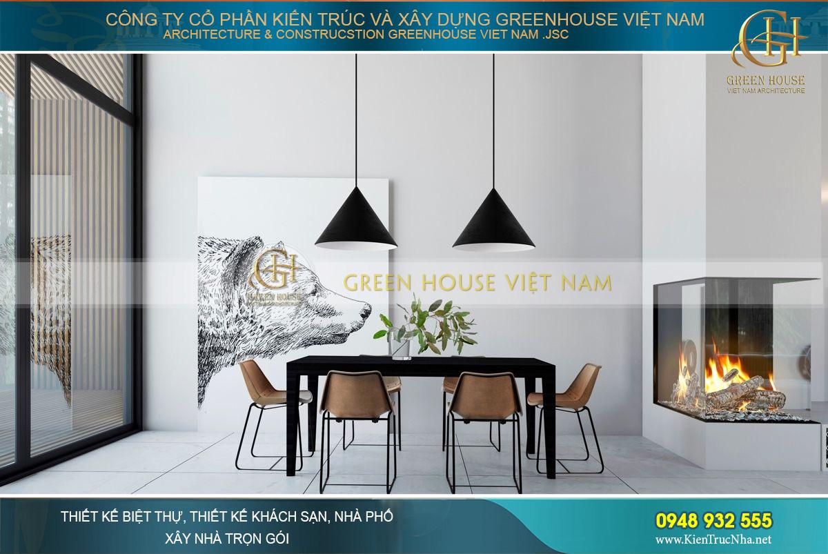 thiết kế nội thất tối giản