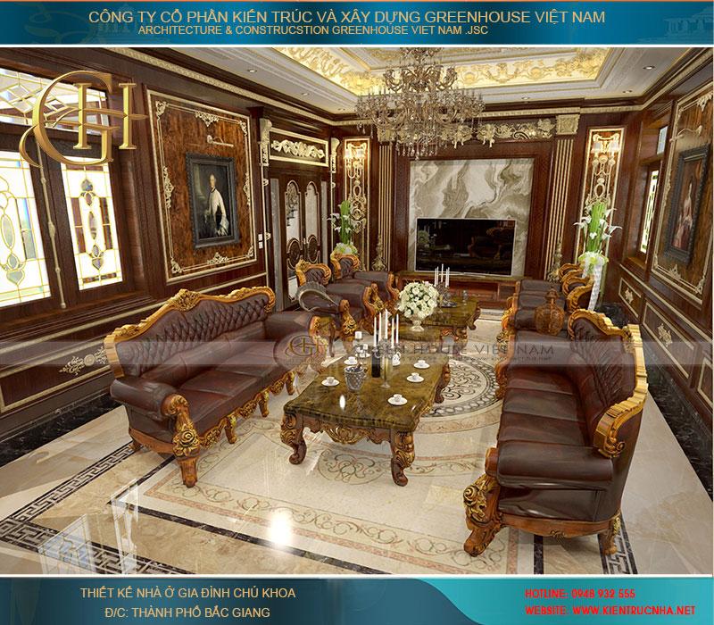 Mẫu nội thất phòng khách được thiết kế dựa trên sở thích của khách hàng