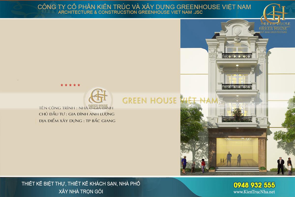 Toàn cảnh thiết kế nhà ống Tân cổ điển tại Bắc Giang.