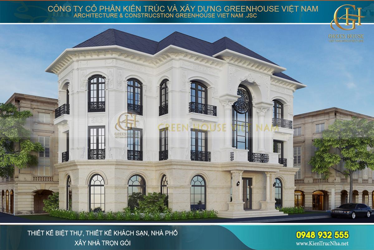 Không gian xa hoa, lộng lẫy của thiết kế biệt thự tại Vinhomes Hà Nội