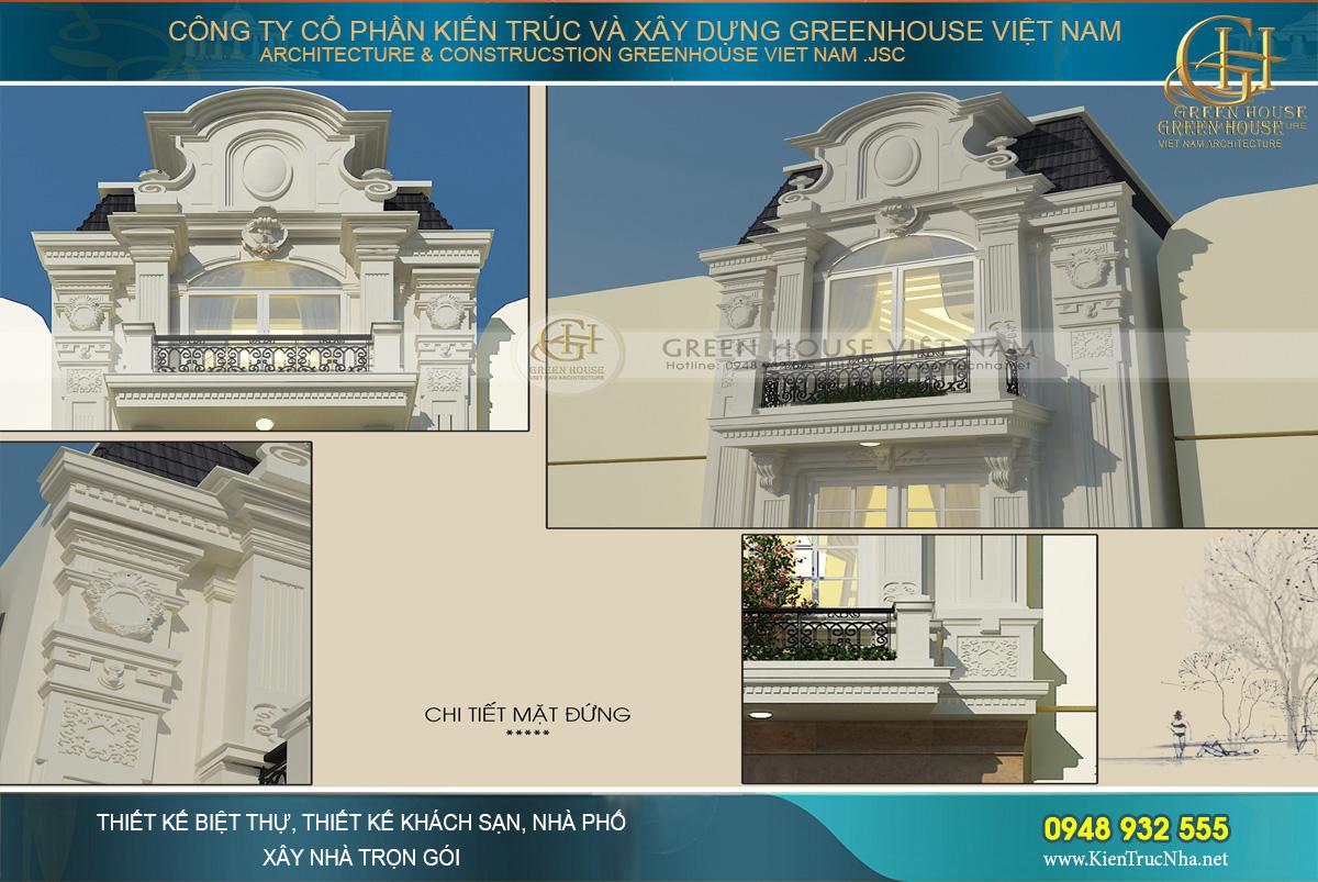 Tân cổ điển là phong cách chủ đạo của tòa kiến trúc.