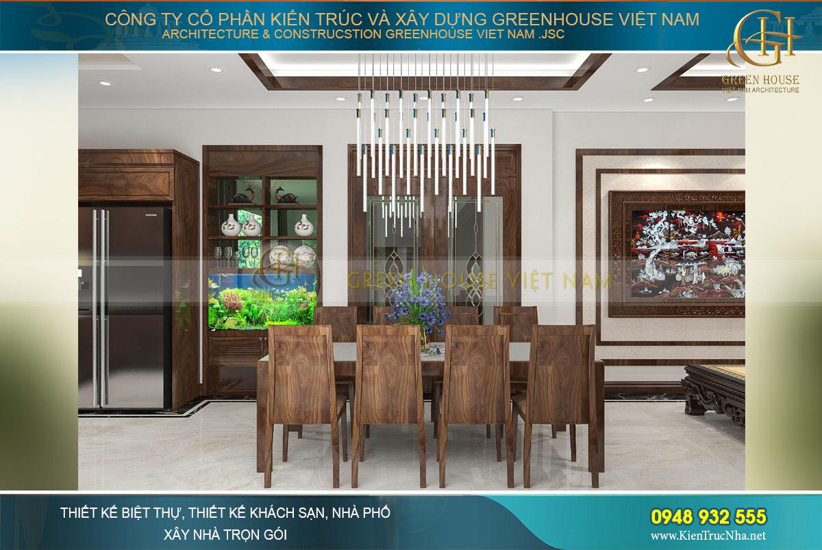 Bộ bàn ăn 8 ghế bằng gỗ tự nhiên với kiểu dáng đơn giản, nhẹ nhàng