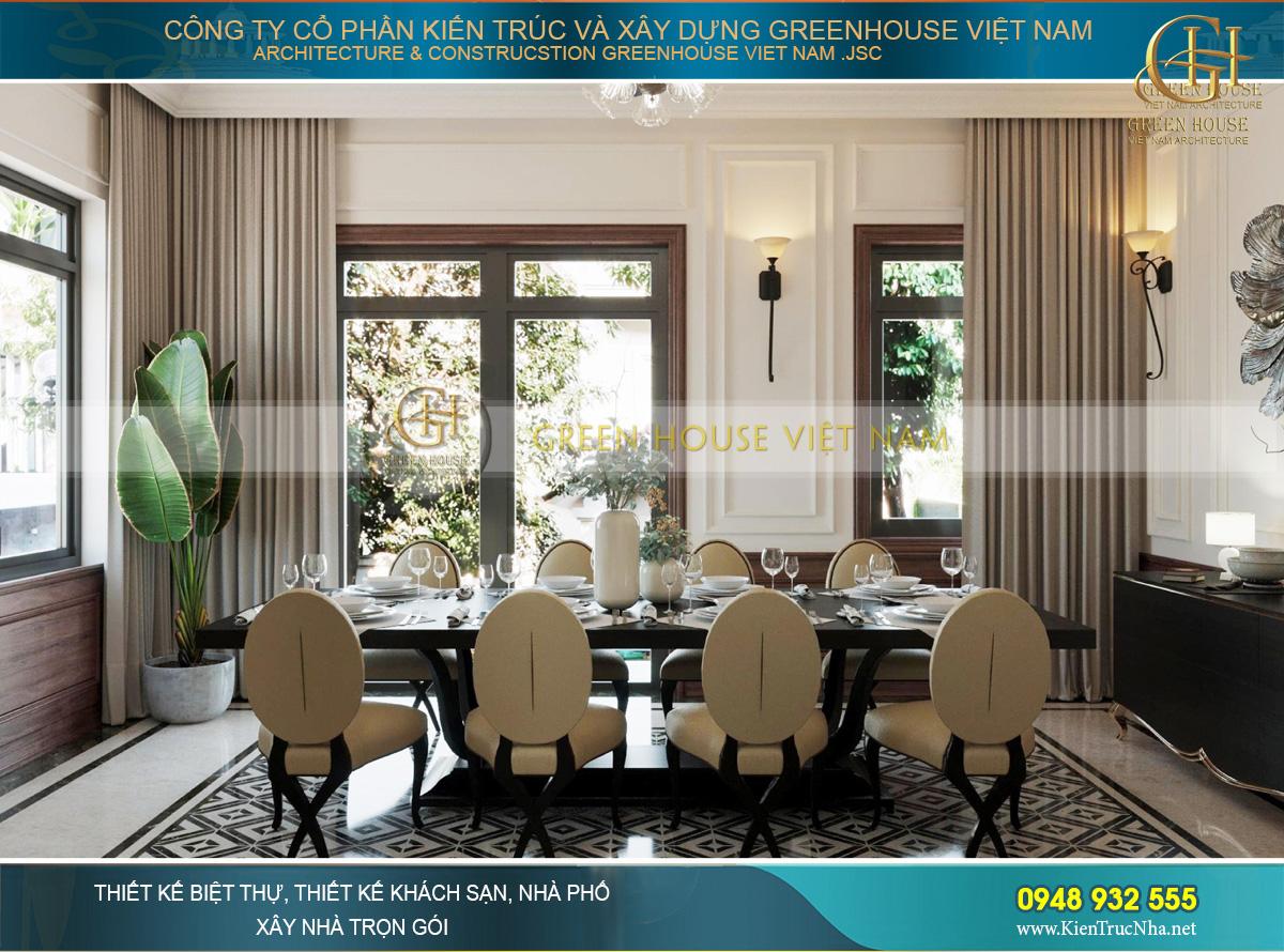 Vẻ đẹp của thiết kế phòng ăn mang sự trang nhã, dịu dàng và gần gũi hơn