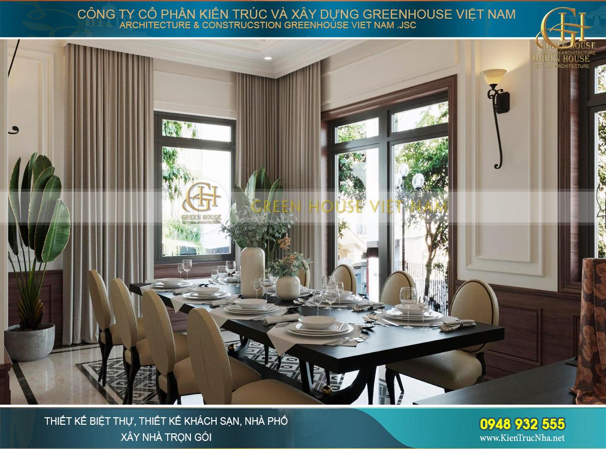Thiết kế nội thất phòng ăn tưởng như đơn giản nhưng cực kỳ tinh tế và tỉ mỉ