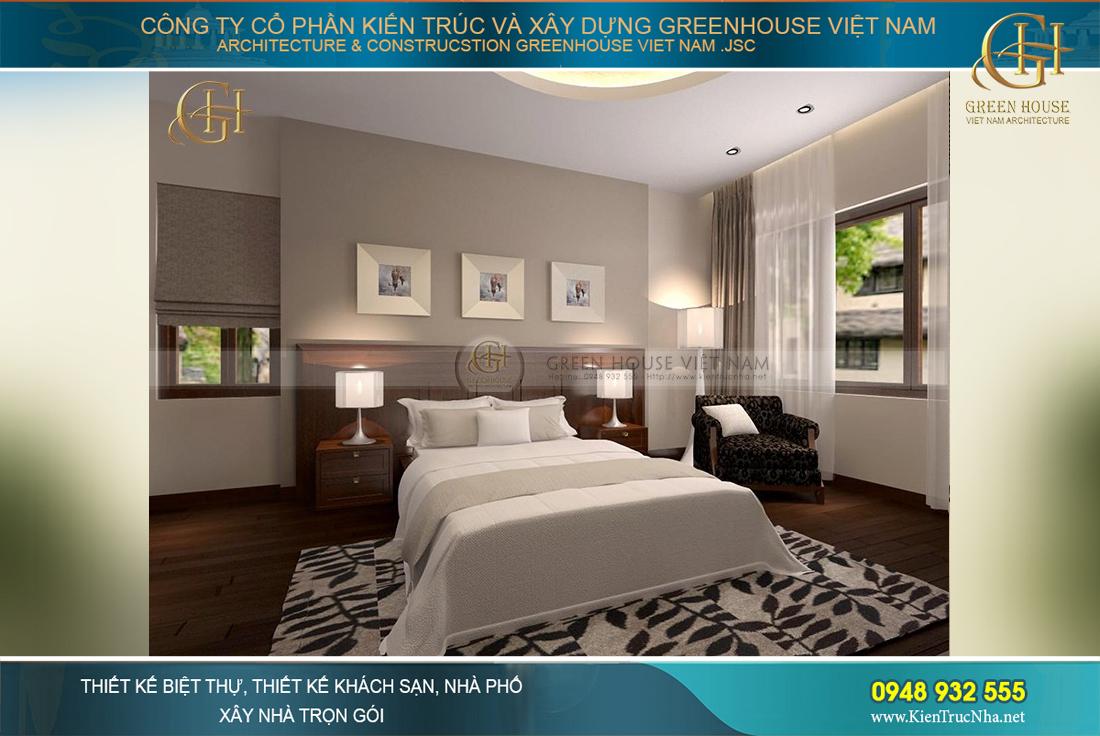 Gam màu trầm cơ bản được lựa chọn cho phòng ngủ, phong cách tối giản cho các không gian sinh hoạt